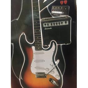 Paquete De Guitarra Electrica Strato Amplificador 15w