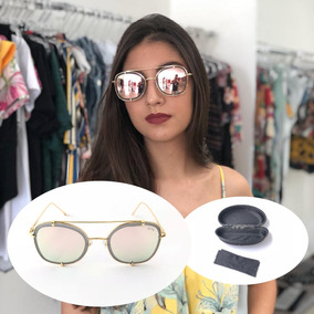 Oculo Sol Espelhado Barato Rosa - Óculos De Sol no Mercado Livre Brasil e241d0623d