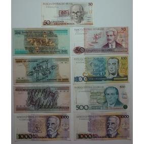 P1 - Lote 09 Cédulas Notas Dinheiro Antigo Variadas - Barato