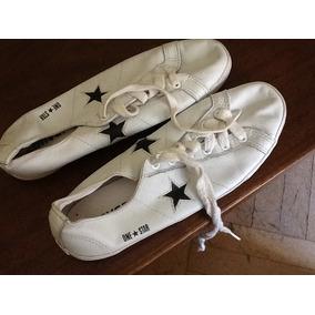 Zapatillas Mujer O Varon Converse One Star En Cuero Blanco.
