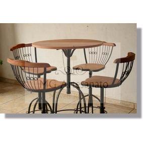 Jogo Mesa Bistrô E 4 Cadeiras Em Madeira De Preço De Fábrica