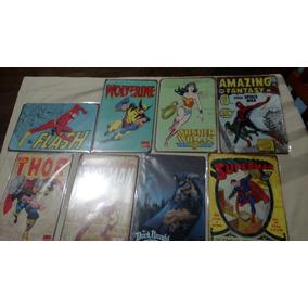 Poster Metálicos De Super Heroes
