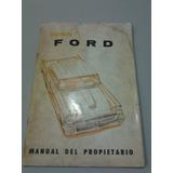 Libro Manual Original De Usuario: Ford 1958, En Castellano