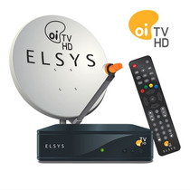 Kit Antena Com Receptor Oi Tv Livre Sem Mensalidade Com 60 C