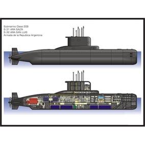 Plano Submarino Clase 209 1:200
