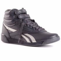 Zapatillas Botitas Reebok Classics Freestyle Hi Negro