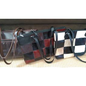 e5f8a8b8a4 Bolsa Bag Grande Em Couro Legítimo (patchwork)