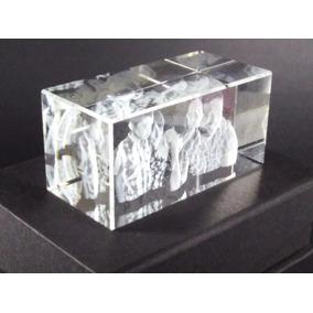 Cristal Personalizado Con Foto En 3d Grabado Láser