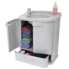 Gabinete Para Banheiro Com Pia Em Pvc Gab5 Gabfit Gab Fit