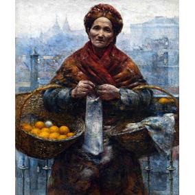 Lienzo Tela Canvas Arte Sacro Mujer Judía Polonia 60 X 50 Cm