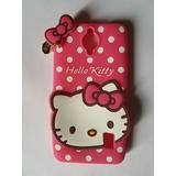 Estuche 3d Silicona Goma Hello Kitty Huawei Y635 + Vidrio