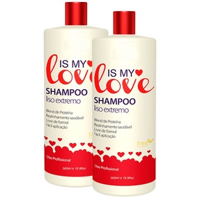 Kit 2 Shampoo Alisante Liso Extremo Is My Love 500ml