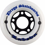 Roda Dregs Longboards 70mm 81a White Centerset Slide /usa