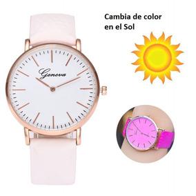 Reloj Geneva Cambia De Color Con El Sol Envio Gratis