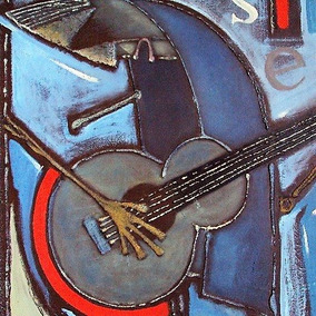Cuadro Pintura Al Óleo Expresionista Original Enrique Hdez.