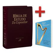 Bíblia Do Expositor De Estudo Vinho + Harpa De Brinde