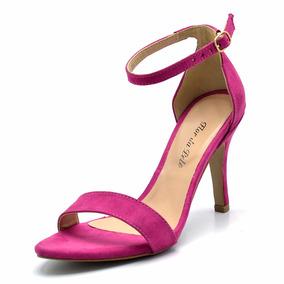 Sandalia Feminina Salto Alto Fino Estilo Arezzo Pink 1725