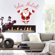 Adesivo Decoração Casa Quarto Feliz Natal Papai Noel