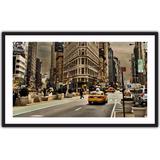 Quadro Decorativo Cidade Ruas De Nova York Taxis Predios