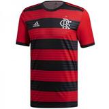 Camiseta Flamengo 2018/2019 Titular Roja Y Negra