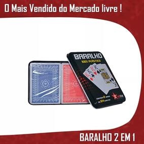 Baralho Lata Kit Profissional 108 Cartas Frete Grátis