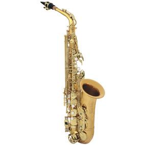 Custom Saxofone Alto Laqueado Dois Tons Eb Case + Acessórios
