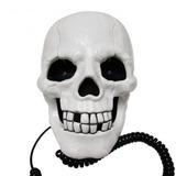 Telefone Formato De Caveira Cranio Branco Diferente