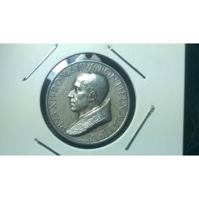 Vaticano Antiga Medalha Prata 1950 22,3mm 4,4g Papa Pio Xii