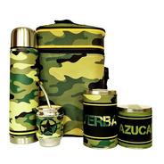 Equipo De Mate Completo Camuflado Militar Set Kit Matero