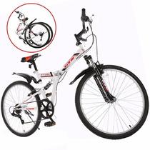 Promoción! Bicicleta Montaña Plegable 7vel Shimano R26