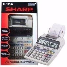 Calculadora De Mesa Sharp El- 1750 V C/ Impressão Com Nf