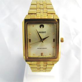 Relógio Orient Masculino Bracelete Folhado A Ouro Semi Novo