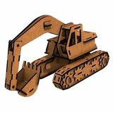 Brinquedo - Escavadeira - 81 Peças - Quebra-cabeça 3d