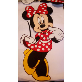 Figura De Fomi Foamy Fomy Minnie Mouse Disney 1 Metro