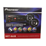 Combo Pioneer Mxt 86ub Radio Usb/aux/sin Cd + Parlante 6