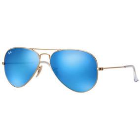 Ray Ban Aviador Arm Dourada Lente Azul Espelhada Grande. R  480. 12x R  45. Frete  grátis f15556e836