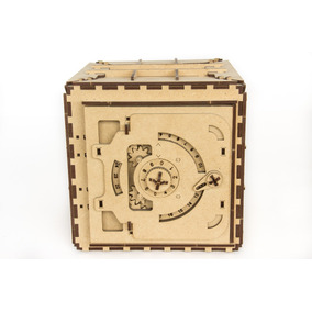3d Rompecabezas De Madera - Caja Fuerte