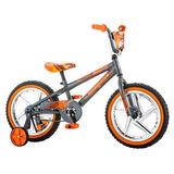 Mongoose Boys Skid Bicycle Con Ruedas De 16 \, Gris