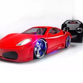 Carrinho De Controle Remoto Ferrari Acende A Luz Do Farol