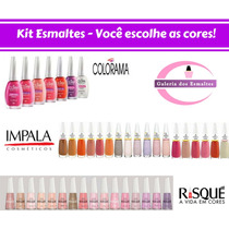 1 Kit Esmaltes Colorama, Impala E Risque C/ 10 Unid No Total