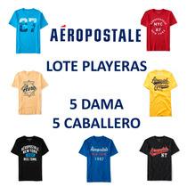 Lote 10 Playeras Dama Y Caballero Aeropostale Hollister 2017