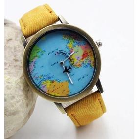 Reloj Viaje Moda Mujer Del Mapa Del Mundo Visa Pasaporte