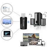 Transmisor De Audio Bluetooth 3.5mm Dongle Para Tv Mp3 Pc