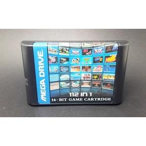 Cartucho Fita 112 Em 1 Mega Drive Genesis Multi Jogos