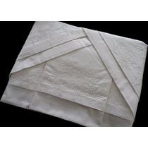 Jogo De Lençol Casal 250 Fios Bordado Cama+mesa+banho+lençol