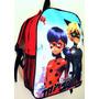 Mochila Escolar Infantil G Miraculous Bolsa Ladybug Cat Noir