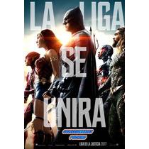Poster Original De Cine Liga De La Justicia Justice League