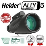 Heider Ally5 Monoscope 12x50 Compact Monocular Scope Waterpr