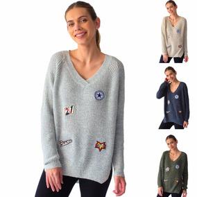 Sueter Dama Blusón Mujer Tejido Con Aplicaciones Rack & Pack