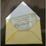 Ticket Plataforma 9 3/4 - Harry Potter - Hogwarts